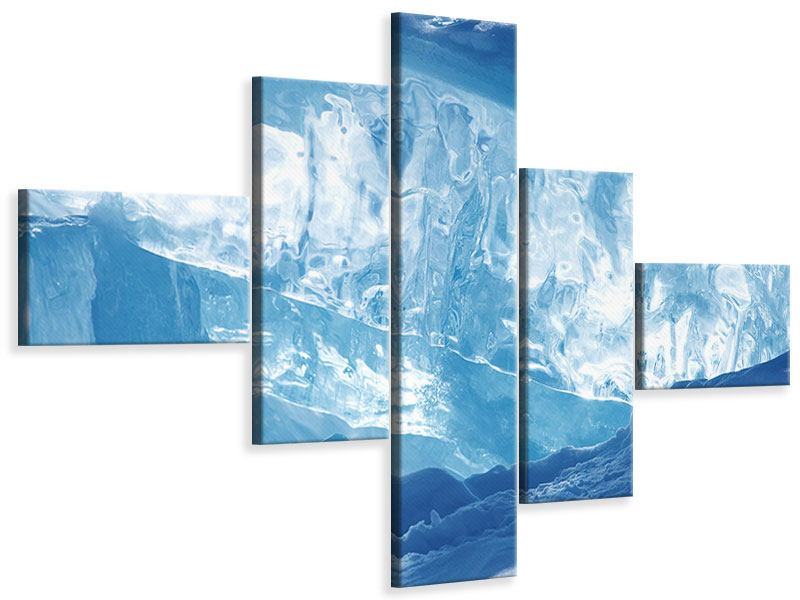 Leinwandbild 5-teilig modern Baikalsee-Eis