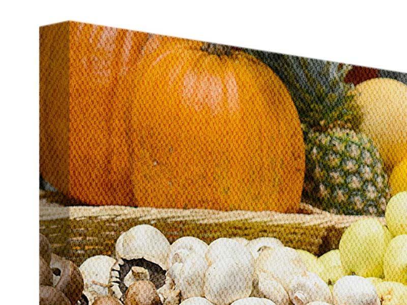 Leinwandbild 5-teilig modern Obstmarkt