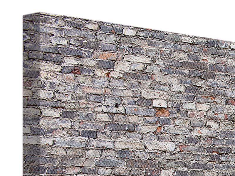 Leinwandbild 5-teilig modern Alte Backsteine