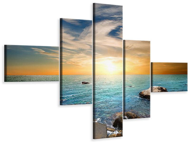 Leinwandbild 5-teilig modern Meerwasser