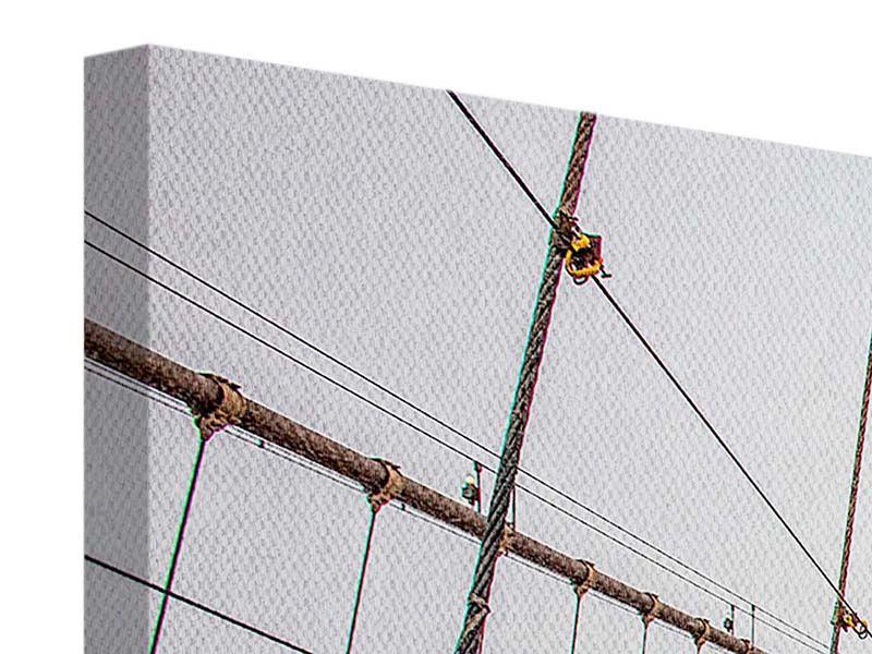 Leinwandbild 5-teilig modern Auf der Brooklyn Bridge