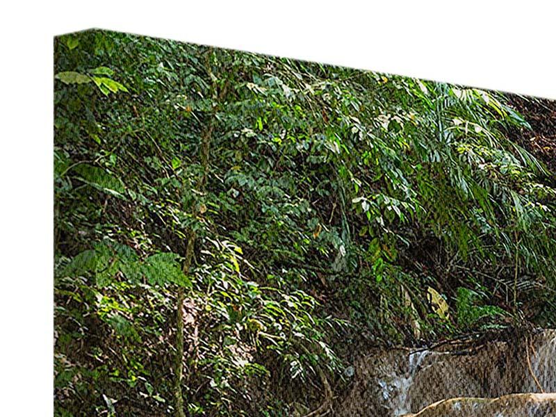 Leinwandbild 5-teilig modern Mexikanischer Wasserfall