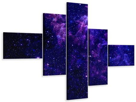 Leinwandbild 5-teilig modern Ein Himmel voll Sterne