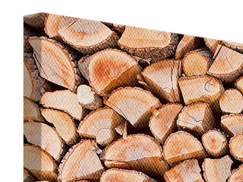 Leinwandbild 5-teilig modern Birkenstapel