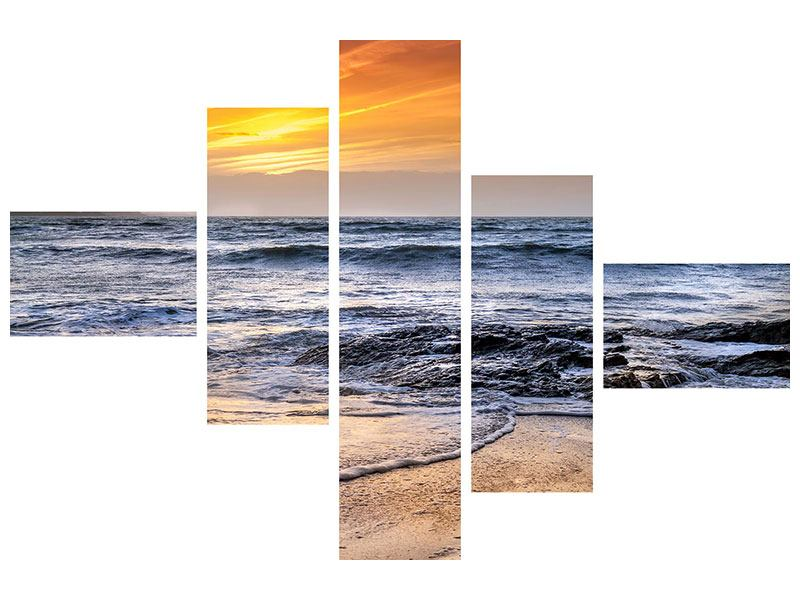 Leinwandbild 5-teilig modern Das Meer