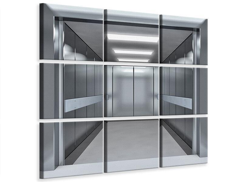 Leinwandbild 9-teilig Aufzug