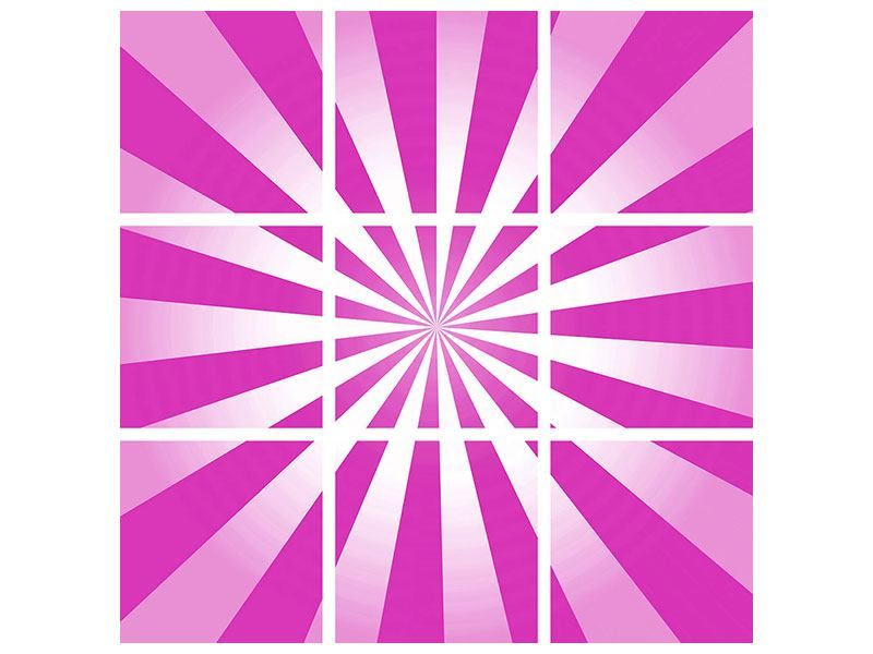 Leinwandbild 9-teilig Abstrakt Lollipop