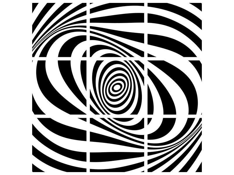 Leinwandbild 9-teilig Abstrakte Wandbewegung