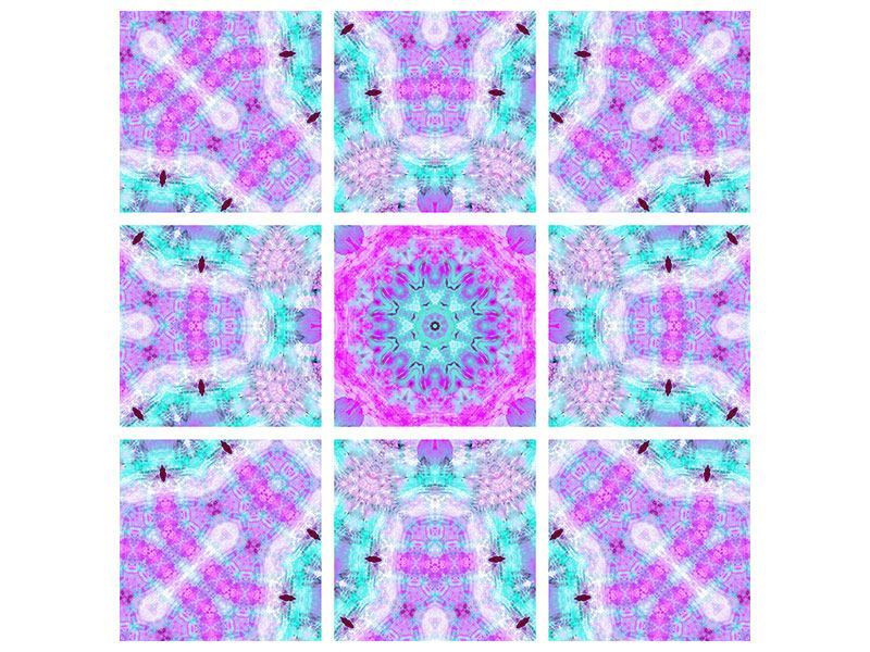 Leinwandbild 9-teilig Lilac