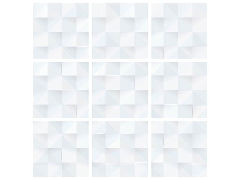 Leinwandbild 9-teilig 3D-Schachbrett
