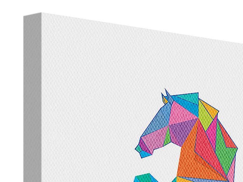 Leinwandbild 9-teilig Origami Pferd
