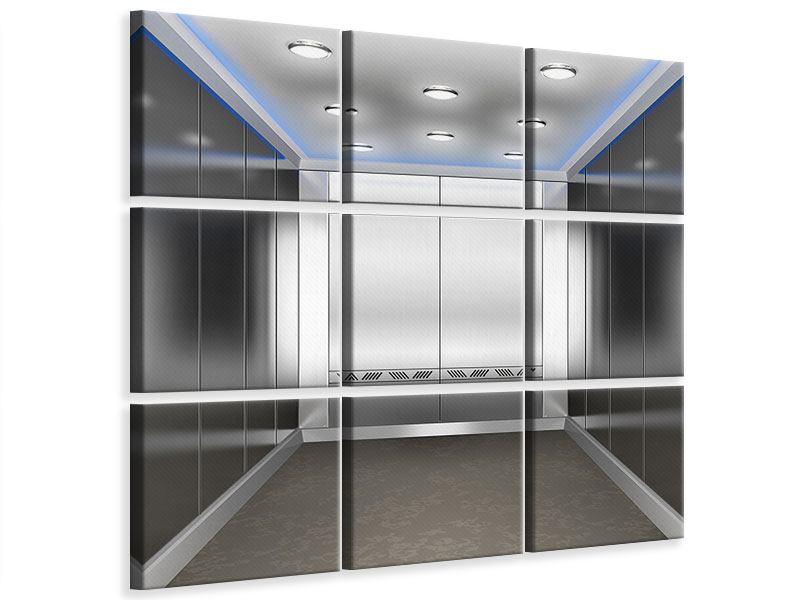 Leinwandbild 9-teilig Eleganter Aufzug