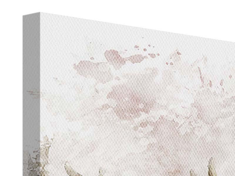 Leinwandbild 9-teilig Elch-Gemälde