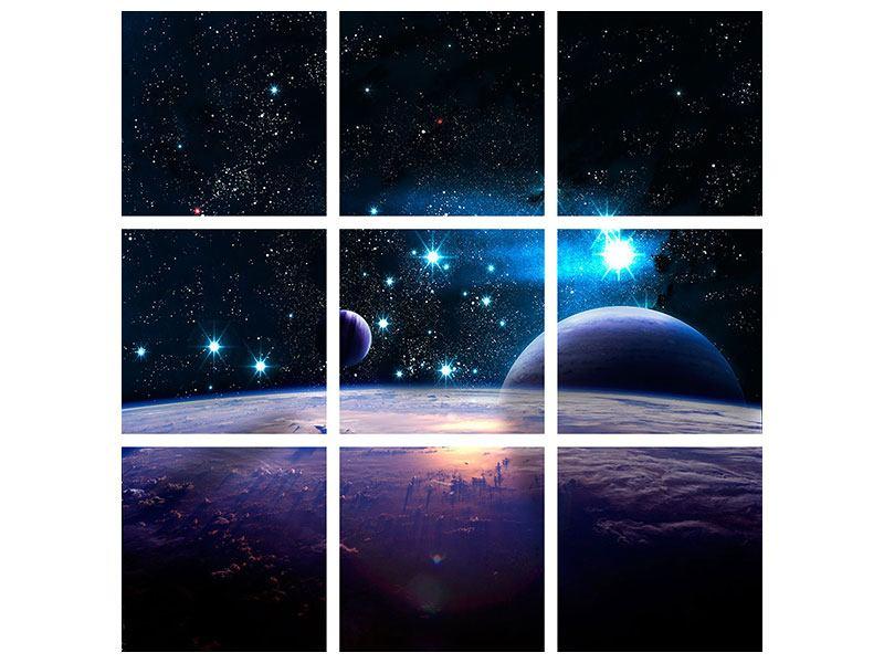 Leinwandbild 9-teilig Das All