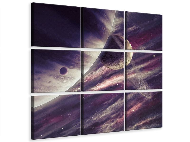 Leinwandbild 9-teilig Weltraumreise