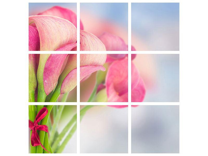 Leinwandbild 9-teilig Der Lilienstrauss