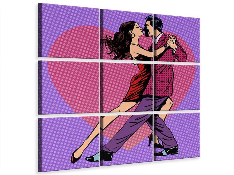Leinwandbild 9-teilig Pop Art Lambada