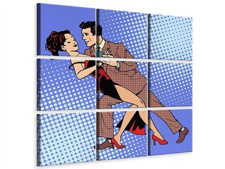Leinwandbild 9-teilig Pop Art Merengue