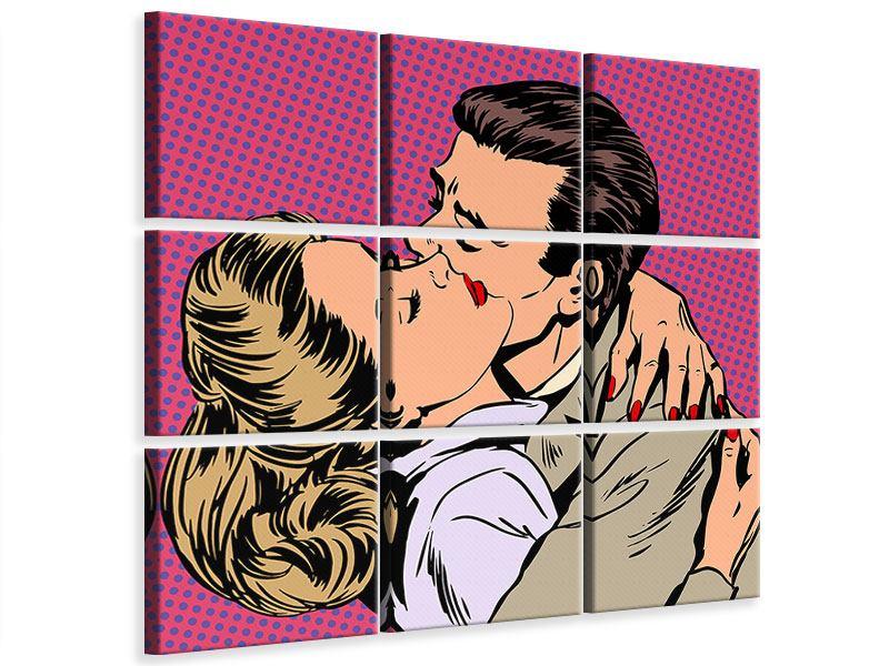 Leinwandbild 9-teilig Pop Art Sehnsucht