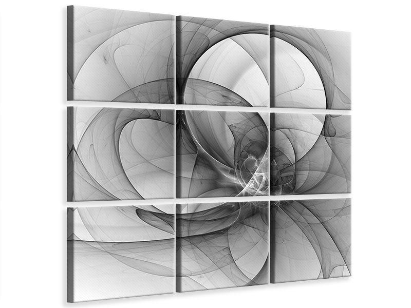 Leinwandbild 9-teilig Abstrakte Kreisende Kreise