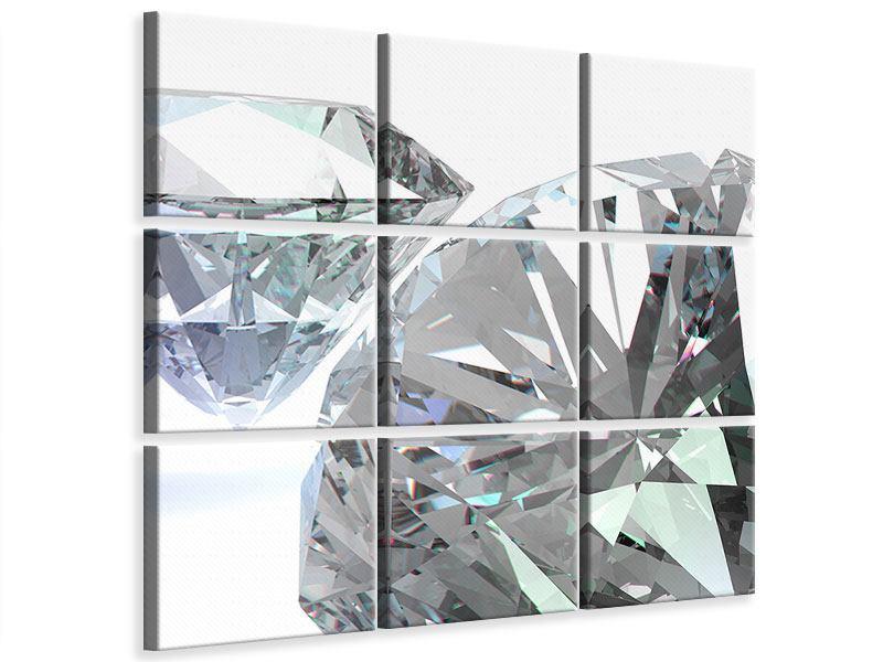 Leinwandbild 9-teilig XXL Diamant