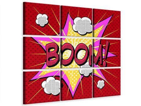 Leinwandbild 9-teilig Pop Art Boom