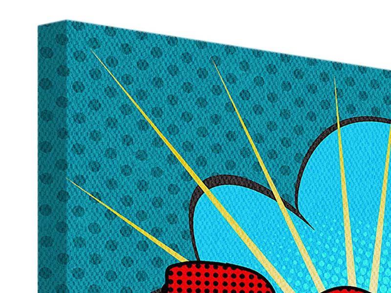 Leinwandbild 9-teilig Pop Art Pow