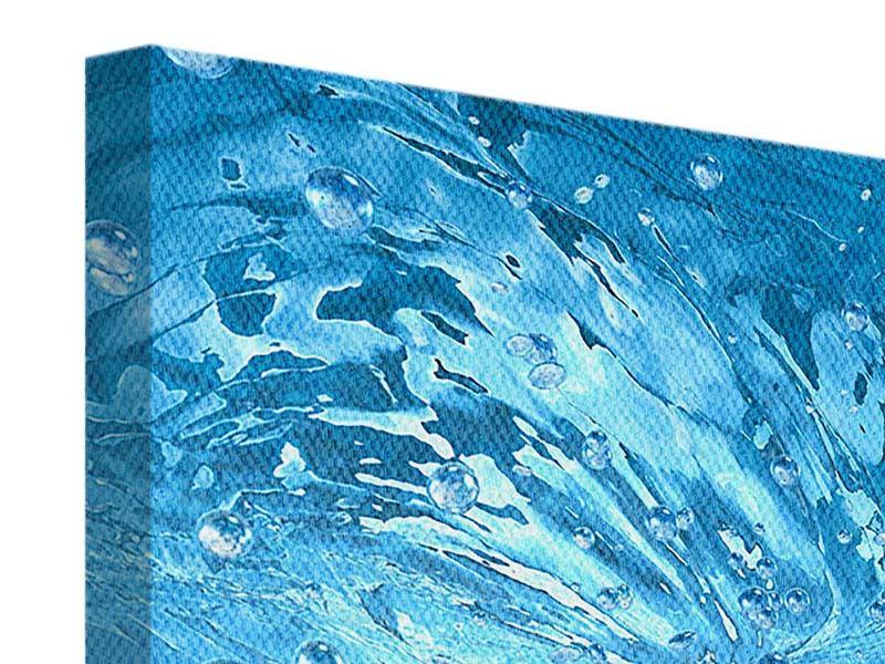 Leinwandbild 9-teilig Wasserblasen