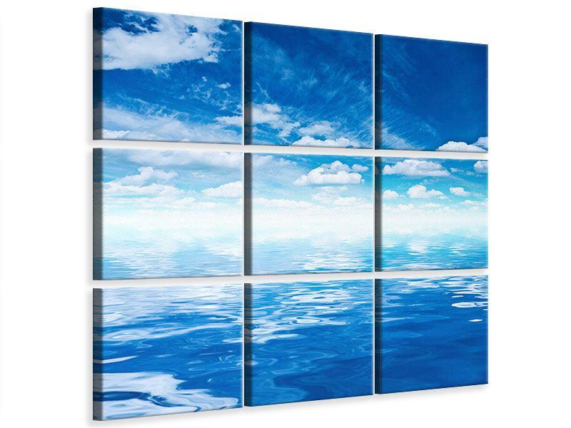 Leinwandbild 9-teilig Himmel und Wasser