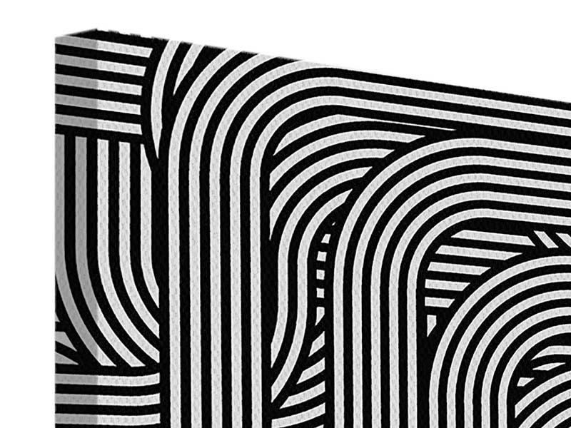 Leinwandbild 9-teilig 3D Black & White