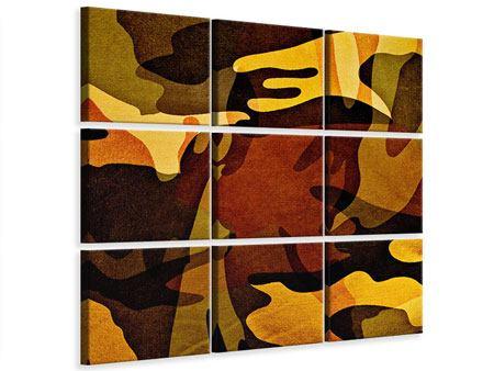 Leinwandbild 9-teilig Military