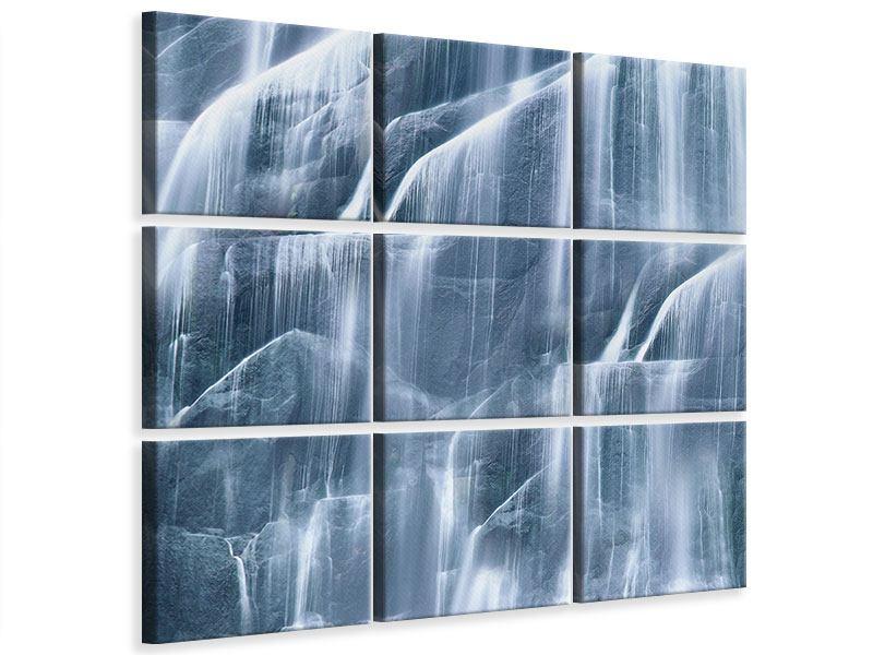 Leinwandbild 9-teilig Waterfall