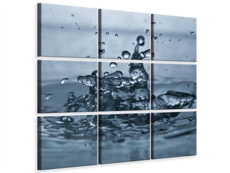 Leinwandbild 9-teilig Wassertropfen
