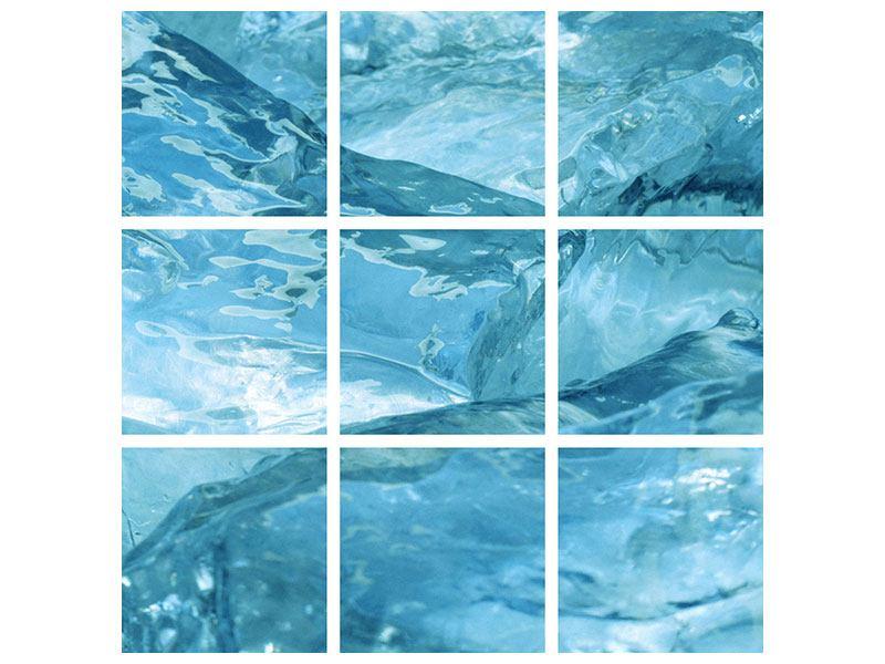 Leinwandbild 9-teilig Cooler Eislook