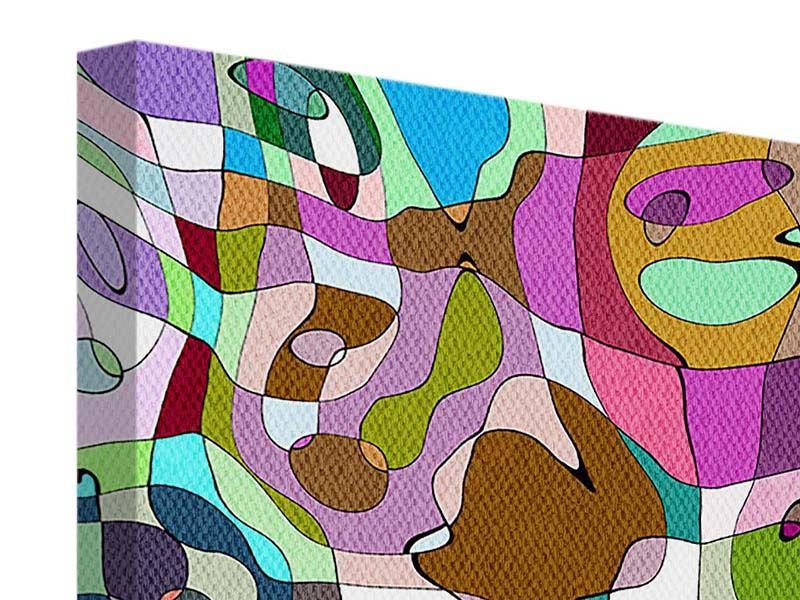 Leinwandbild 9-teilig Kubistisches Gemälde