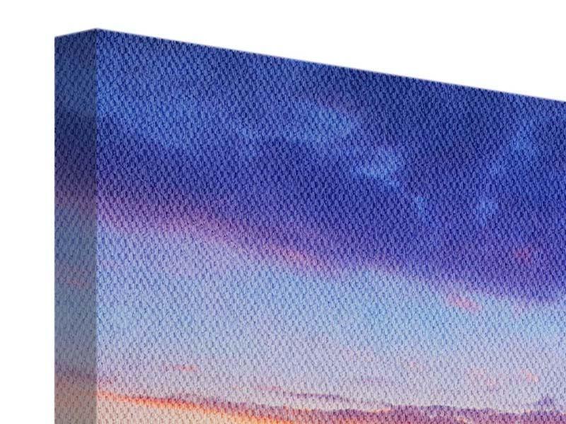 Leinwandbild 9-teilig Leuchtender Sonnenuntergang
