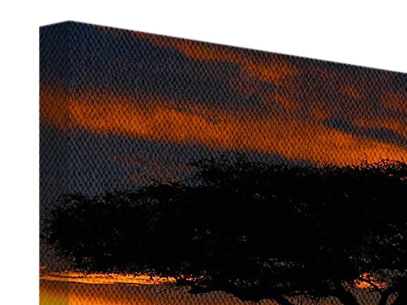 Leinwandbild 9-teilig Sonnenuntergang in Kenia