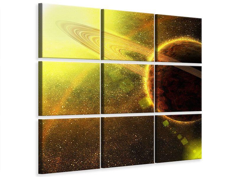 Leinwandbild 9-teilig Sterne