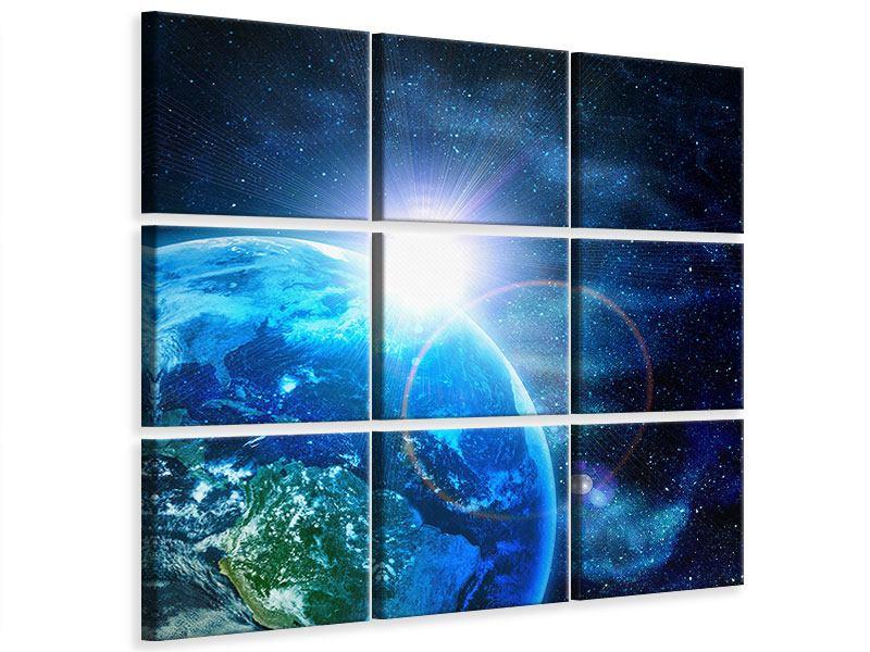 Leinwandbild 9-teilig Galaxien