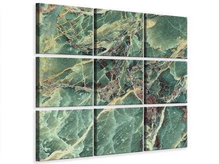 Leinwandbild 9-teilig Marmor