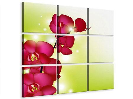 Leinwandbild 9-teilig Heiligtum der Orchidee