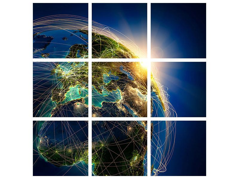 Leinwandbild 9-teilig Der Planet Erde
