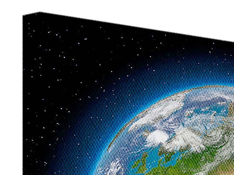 Leinwandbild 9-teilig Die Erde als Planet