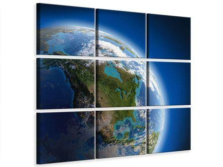 Leinwandbild 9-teilig Die Erde
