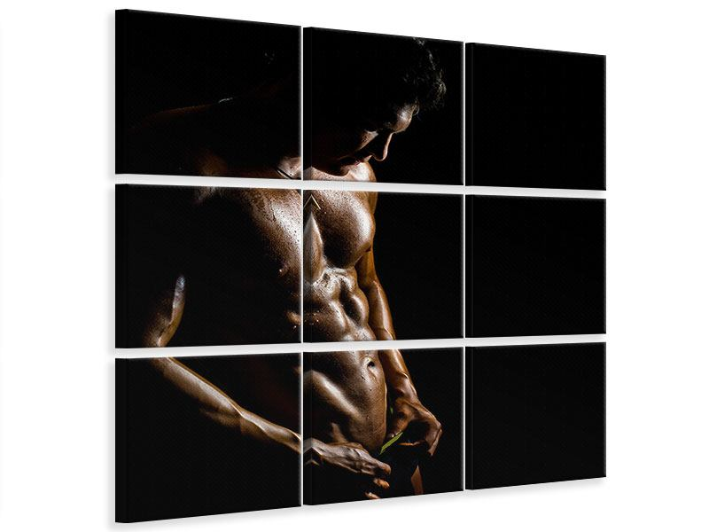 Leinwandbild 9-teilig Heisses Männermodel