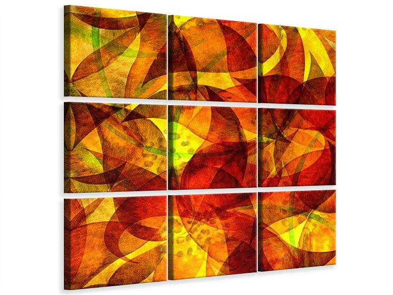 Leinwandbild 9-teilig Abstraktes Gemälde