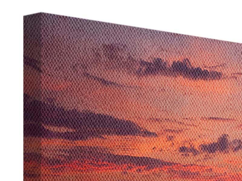 Leinwandbild 9-teilig Zeile auf den Sand