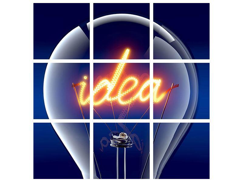 Leinwandbild 9-teilig Idea