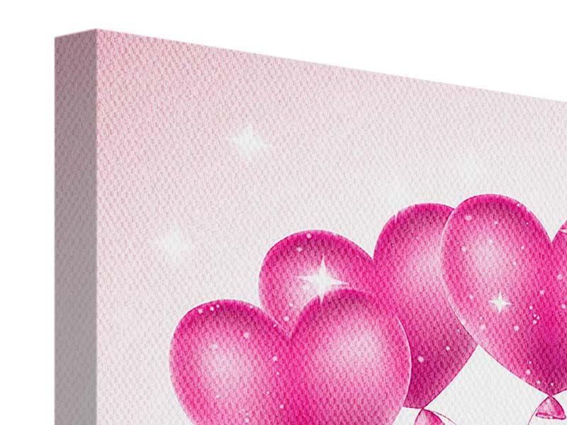 Leinwandbild 9-teilig Herzballons