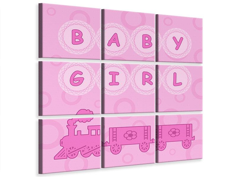 Leinwandbild 9-teilig Baby-Girl